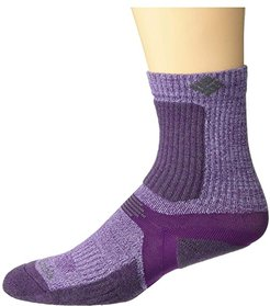 Hiking Ultra Lightweight Crop Crew Socks 1-Pack (Wild Iris) Crew Cut Socks Shoes