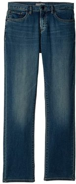 Brady Dark Wash Knit Denim Slim Leg in Vibes (Big Kids) (Vibes) Boy's Jeans