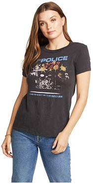 The Police: Ghost In The Machine Gauzy Cotton Tee (Vintage Black) Women's Clothing