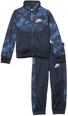 Textured Camo Full Zip Jacket and Pants Two-Piece Track Set (Toddler) (Obsidian) Boy's Active Sets