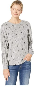 Avah Ruched Long Sleeve Pullover (Heather Grey) Women's Long Sleeve Pullover