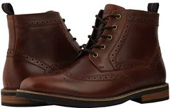Odell Wingtip Boot with KORE Walking Comfort Technology (Rust) Men's Lace-up Boots