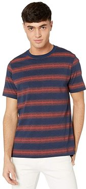 PS Dotted Stripe T-Shirt (Navy/Red) Men's Clothing