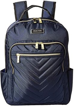 Polyester Twill Chevron Backpack (Navy) Backpack Bags