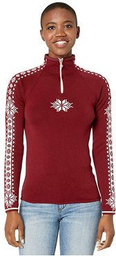 Geilo Feminine (Ruby Melange/Off-White) Women's Sweater