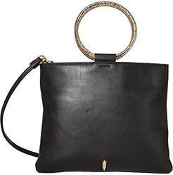 Le Pouch Hammered Crossbody (Black) Handbags