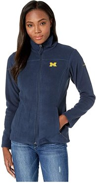 Michigan Wolverines CLG Give and Gotm II Full Zip Fleece Jacket (Collegiate Navy) Women's Fleece