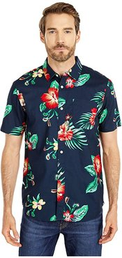 Trap Floral Short Sleeve Woven (Trap Floral) Men's Clothing