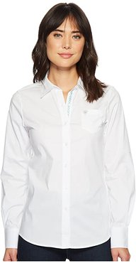 Kirby Stretch Shirt (White) Women's Long Sleeve Button Up