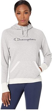 Powerblend(r) Applique Hoodie (Oxford Grey Heather/Oatmeal Heather) Women's Clothing