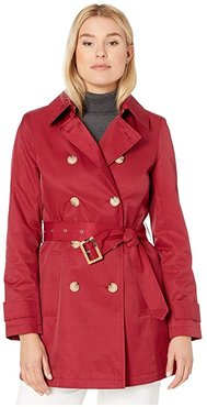 Short Double Breasted Trench (Rebel Red) Women's Coat