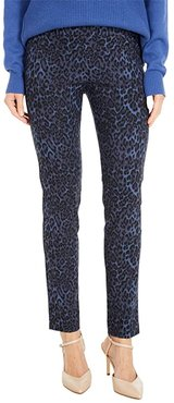 Wildcat Pull-On Ankle Pants with Back Slit Detail (Blue/Black) Women's Casual Pants