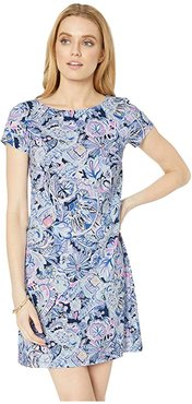 Short Sleeve Bay Dress (Iris Blue Namastay in The Jungle) Women's Clothing