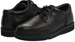 Mall Walker (Black Leather) Men's Lace Up Moc Toe Shoes