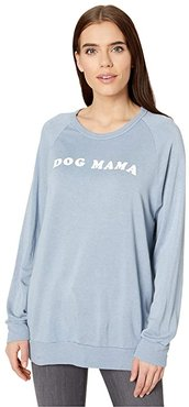 Dave Dog Mama Pullover (Polar Blue) Women's Clothing