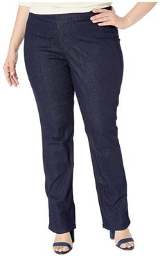 Plus Size Pull-On Marilyn Straight in Rinse (Rinse) Women's Jeans