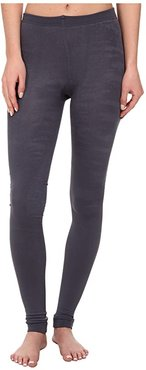 Fleece-Lined Footless Tights (Grey) Patterned Hose