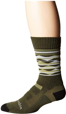 Triangles Hike Crew with Blister Protection 1-Pack (Nori) Crew Cut Socks Shoes