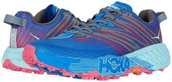 Speedgoat 4 (Imperial Blue/Pink Peacock) Women's Shoes