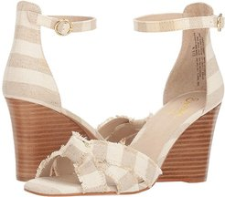 Sunrays (Natural Striped Linen) Women's Sandals