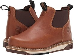 AMP LT Wedge Chelsea Soft Toe Work Boot (Brown) Men's Boots