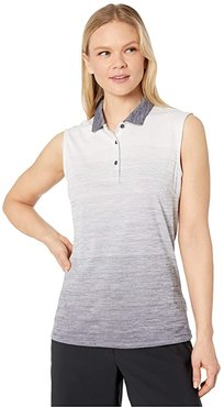 Ombre Sleeveless Polo (Peacoat) Women's Clothing