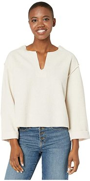 Viola V-Neck Long Sleeve Sweater (Natural) Women's Clothing