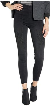Chloe Seamed Moto Pull-On w/ Back Leg Zip in Silky Soft Denim Jeans in Naples (Naples) Women's Jeans