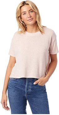 Headliner Cropped Tee (Vintage Faded Pink) Women's T Shirt