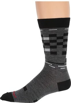 Derby Crew Light (Gray) Men's Crew Cut Socks Shoes