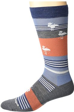 South Beach Crew Lightweight (Gray) Men's Crew Cut Socks Shoes
