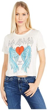 Def Leppard Bringing On The Heartbreak Linen Short Sleeve Tee (Au Lait) Women's T Shirt