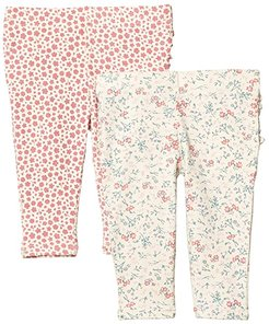 2-Pack Quinn Ruffle Leggings (Infant/Toddler) (Dark Vanilla Maude Floral/Very Berry Edith Floral) Girl's Casual Pants