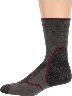 Light Hiker Micro Crew Light Cushion (Taupe) Men's Crew Cut Socks Shoes