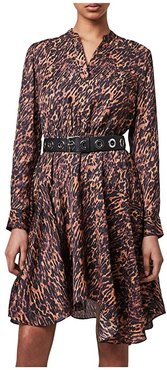 Martina Ambient Dress (Brown) Women's Clothing