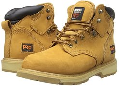 6 Pit Boss Soft Toe (Wheat Nubuck Leather) Men's Work Lace-up Boots