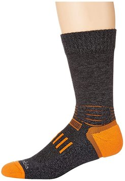 Hike - Thermolite Pro On the Right Path Crew 1-Pack (Charcoal) Crew Cut Socks Shoes
