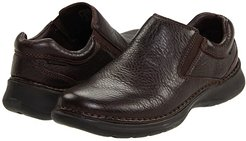 Lunar II (Dark Brown Leather) Men's Slip on  Shoes