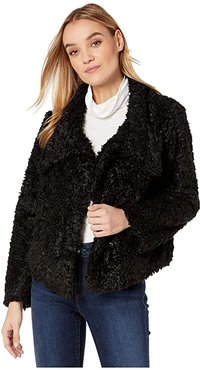 Bishop + Young Cropped Faux Fur Jacket (Black) Women's Clothing