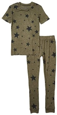 Star Weekend Two-Piece Jammie Set (Toddler/Little Kids/Big Kids) (Olive) Boy's Pajama Sets