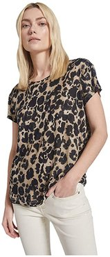The Relaxed Crew (Khaki Inky Leopard) Women's Clothing