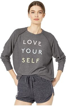 Mary Beth Love Yourself Pullover (Carbon) Women's Clothing