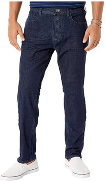 Adaptive Slim Athletic Fit Jeans w/ Magnetic and Micro Velcro(r) Closure in Blue Rinse (Blue Rinse) Men's Jeans