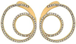 Twisty Wrap Around Earrings with Pave (Gold/Crystal) Earring