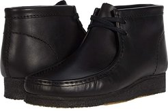 Wallabee Boot (Black Leather) Men's Lace-up Boots