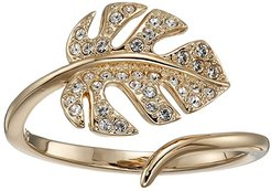 Tropical Leaf Open Ring (White) Ring