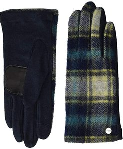 Heritage Plaid Gloves - Water Replellent Palm (Navy) Extreme Cold Weather Gloves