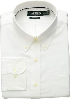 Non-Iron Classic Fit Stretch Dress Shirt (White) Men's Long Sleeve Button Up