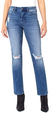 Sadie Straight Jeans with Destruct in Tellico (Tellico) Women's Jeans