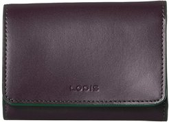 Audrey RFID Mallory French Wallet (Deep Plum/Ivy) Wallet Handbags